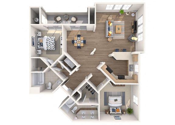 Floor Plan  DiMaggio Floor Plan at Residences at Stadium Village, Surprise, Arizona