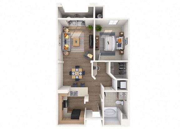Floor Plan  Drysdale Floor Plan at Residences at Stadium Village, Arizona, 85374