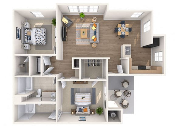 Floor Plan  Koufax Floor Plan at Residences at Stadium Village, Surprise, AZ, 85374