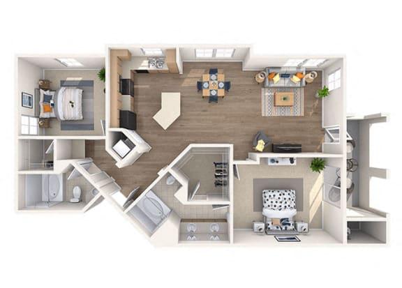 Floor Plan  Mantle Floor Plan at Residences at Stadium Village, Surprise, 85374