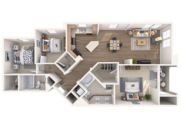 Floor Plan  Ruth Floor Plan at Residences at Stadium Village, Surprise