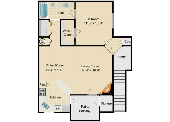 Floor Plan  Barbados Floor Plan at Fourteen01, Orlando