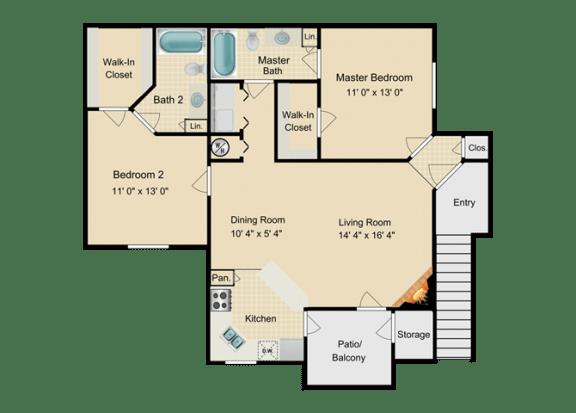 Floor Plan  Bermuda Floor Plan at Fourteen01, Florida, 32811