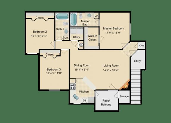 Floor Plan  Grand Kayman Floor Plan at Fourteen01, Orlando, FL, 32811
