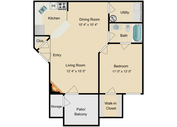 Floor Plan  St.Kitts Floor Plan at Fourteen01, Orlando, Florida