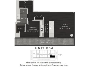 Unit 05A Floor Plan at 640 North Wells, Chicago, Illinois