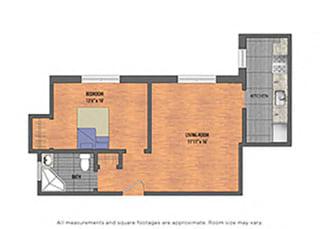 The Metropolitan Tier 02: 1 Bedroom Floor Plan