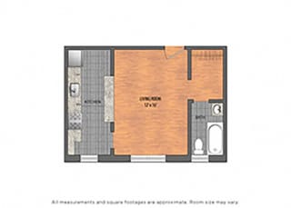 The Metropolitan Tier 25: Studio Floor Plan