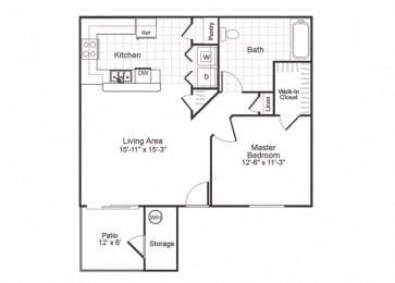 Floor Plan  A1 at Paradise Oaks apartments inAustin TX