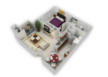 1 Bedroom floor plan Apartments For Rent in Richmond CA 94806