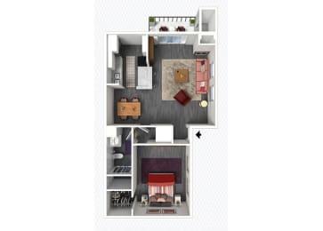 A1 Floor Plan at The Alara, Houston, 77060