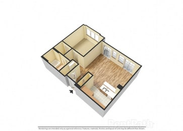 The Porter Brewers Hill Baltimore MD Floor Plan C One Bedroom One Bathroom