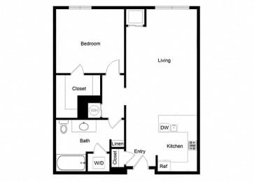 1x1 A10-1 Floor Plan