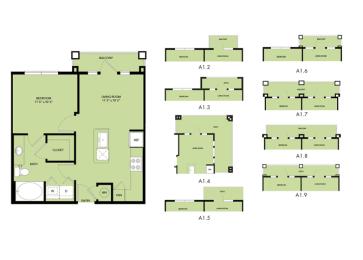 The Nexus Lakeside|A1 Floor Plan Loft Style Apartment