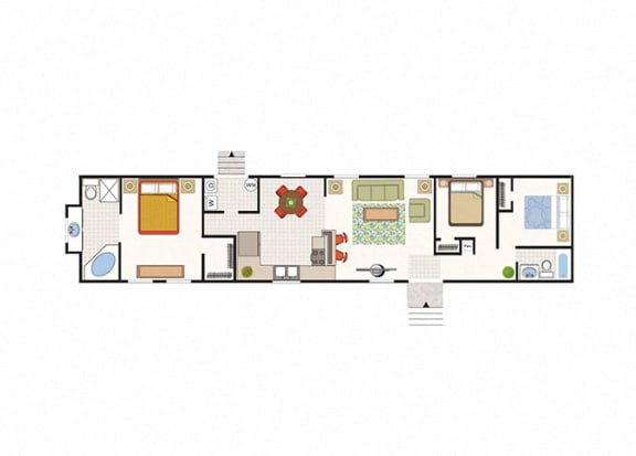 Floor Plan  Solitaire Grand 3 Bed 2 Bath Floor Plan at Maple Grove Rental Home Community in Lincoln, NE