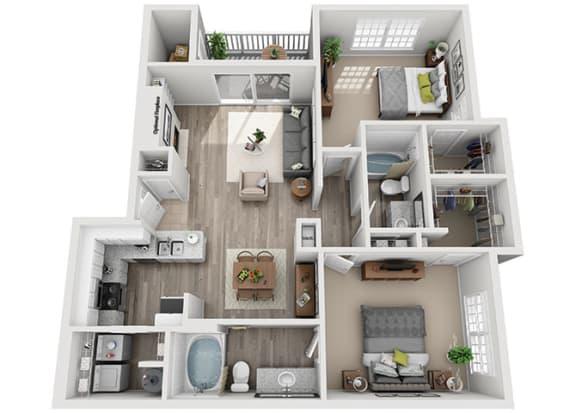 Floor Plan  B1.2a Floor Plan at Addison Park, Charlotte, 28269