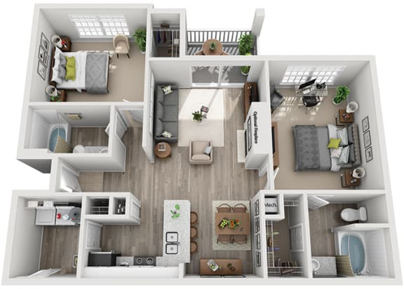 Floor Plan  B2.2a Floor Plan at Addison Park, North Carolina