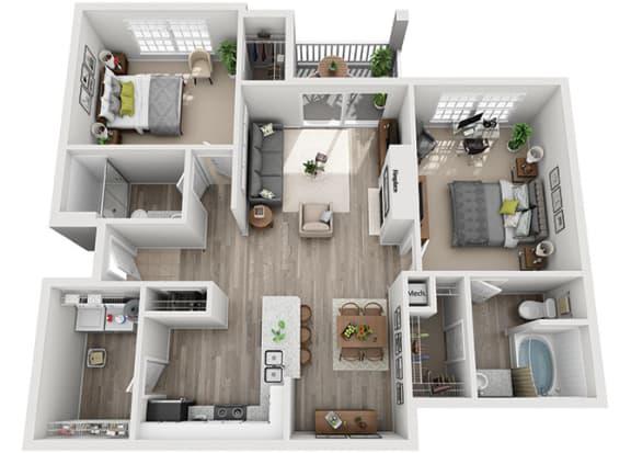 Floor Plan  B4.2a Floor Plan at Addison Park, Charlotte, NC, 28269