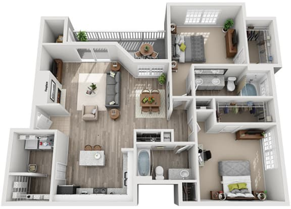 Floor Plan  B6.2a Floor Plan at Addison Park, Charlotte