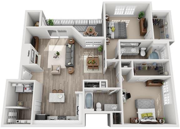 Floor Plan  B6.2ar Floor Plan at Addison Park, Charlotte, North Carolina