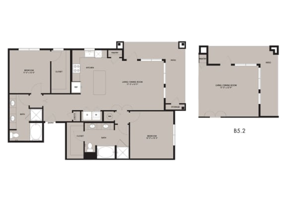 Floor Plan  The Nexus Lakeside|B5 Floor Plan 2 Bedroom 2 Bath