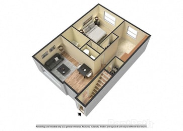 1 Bed, 1 Bath at Fountainview Apartments, Indianapolis, IN