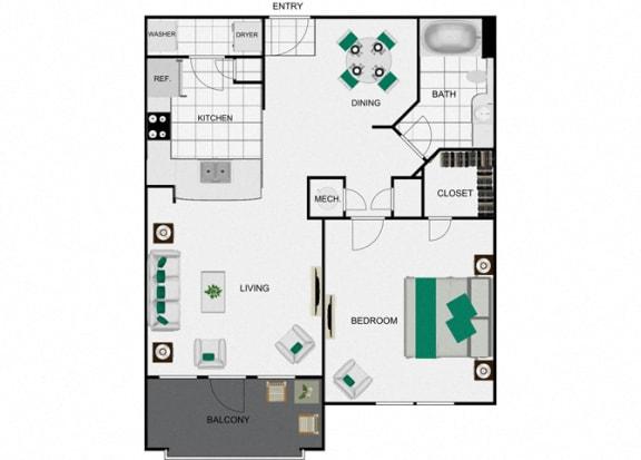 Floor Plan  A2_2 Floorplan for arlo westchase