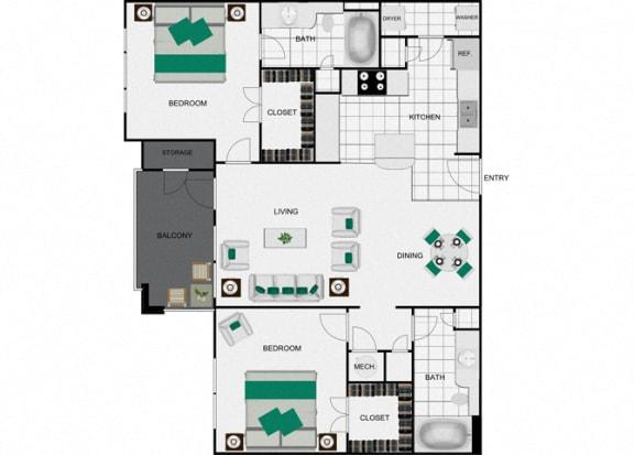 Floor Plan  B1 Floorplan for units in houston