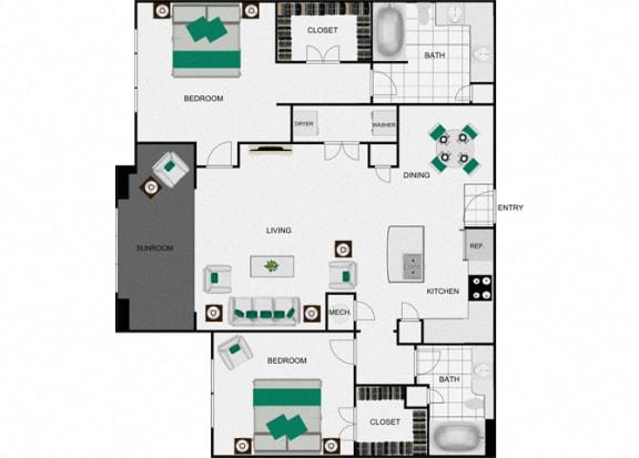 Floor Plan  B4b_2 Floorplan for arlo westchase