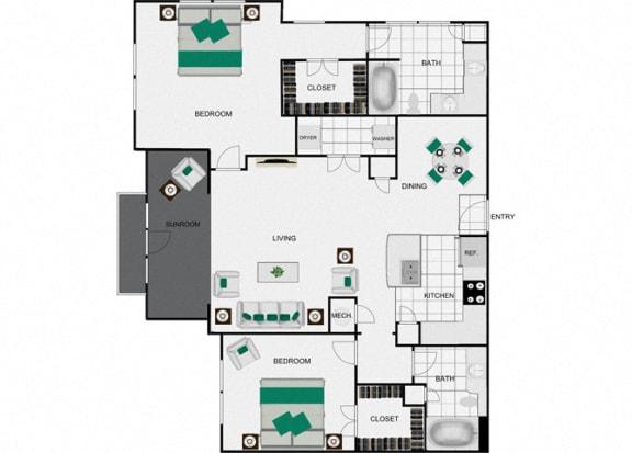 Floor Plan  B8d Floorplan for arlo westchase