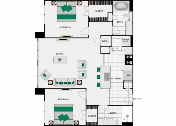 Floor Plan  B9 Floorplan for arlo westchase