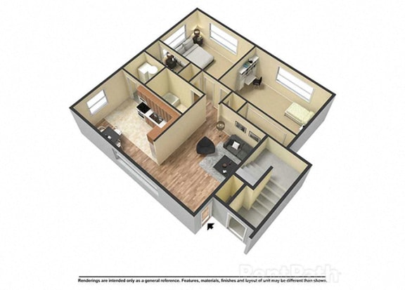 Floor Plan  Unit Image at Fountainview Apartments, Indianapolis, Indiana