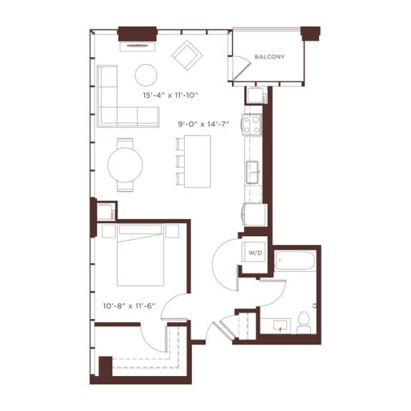 Floor Plan  a4 Floorplan at North+Vine, Chicago, IL