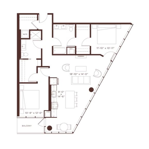 Floor Plan  18 floorplan at North+Vine, Illinois