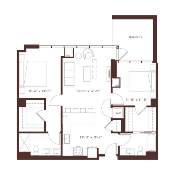 Floor Plan  20 floorplan at North+Vine, Chicago, IL, 60610