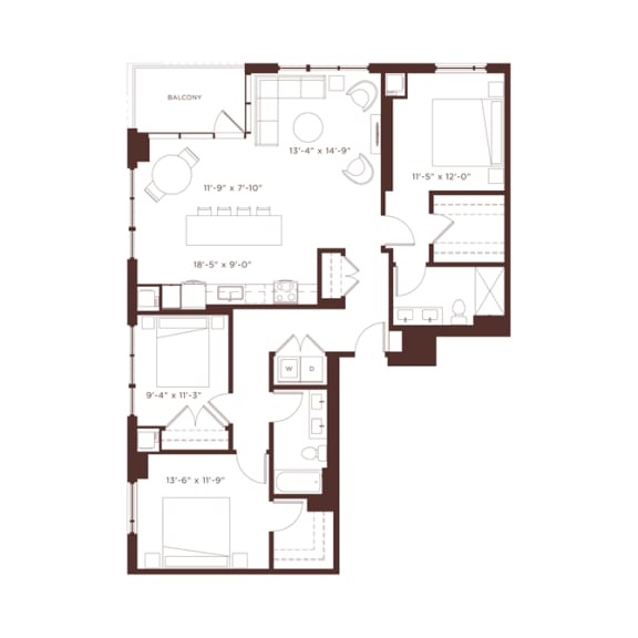 Floor Plan  25 floorplan at North+Vine, Illinois