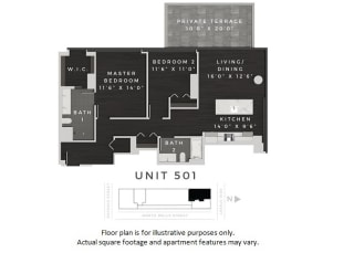 Unit 501 Floor Plan at 640 North Wells, Chicago, 60654