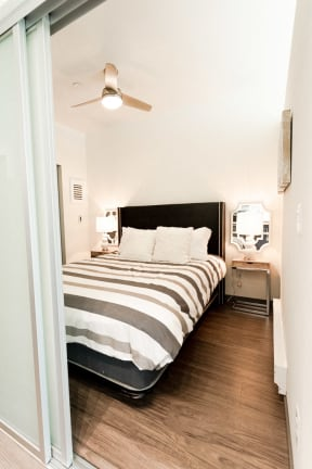 Two Bedroom Apartments in Seattle, WA - Icon Apartments Bedroom with Hardwood Floors and Large Closet