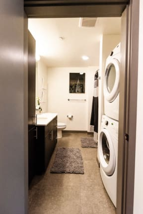 Seattle Apartments - Icon Apartments - Laundry and Bathroom