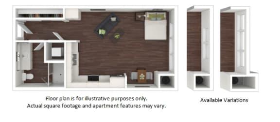 Floor Plan  S1 1 Bathroom Floor Plan at Centric LoHi by Windsor, Colorado