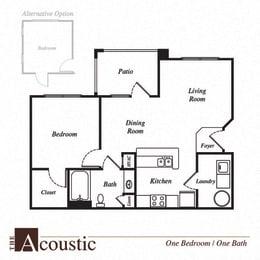 Acoustic floor plan at Pavilion Village, Charlotte, NC