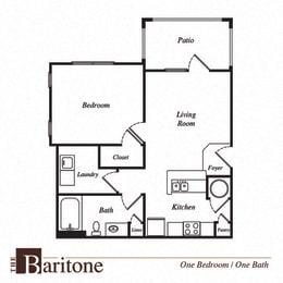 Baritone floor plan at Pavilion Village, Charlotte, NC, 28262