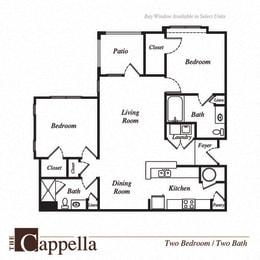 Cappella floor plan at Pavilion Village, Charlotte, North Carolina