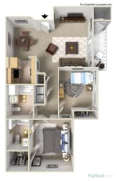 2x2 Floor Plans available at Forest Creek Apartments | Spokane, WA 99208