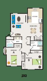 Floor Plan 2x2 Pricing per Bed