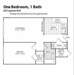 Priscilla Standish Apartments floorplan
