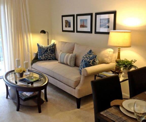 Huntington Beach 55+ Senior Apartments-Fountainglen Seacliff Ca Living Room