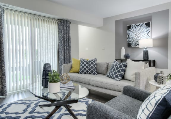 Bright and Spacious Living Room at Northstar, Ann Arbor, MI, 48105