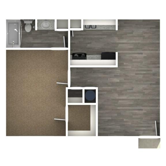 Floor Plan  1 Bedroom | 1 Bath A