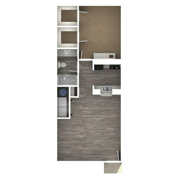 Floor Plan  1 Bedroom   1 Bath C